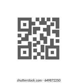 QR code icon in trendy flat style isolated on white background. Symbol for your web site design, logo, app, UI. Vector illustration, EPS