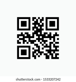 QR Code Icon - Vector, Sign and Symbol for Design, Presentation, Website or Apps Elements.