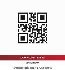 QR code icon vector. Special identity code sign