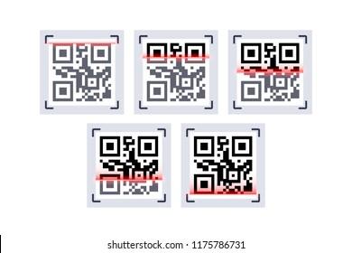 QR code laser scanning