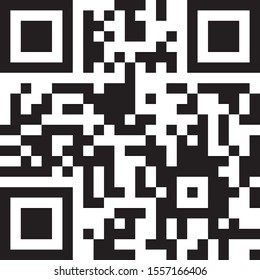 qr code on black background