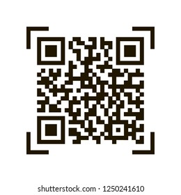 QR code. Sample qr code icon. Vector stock illustration isolated on white background