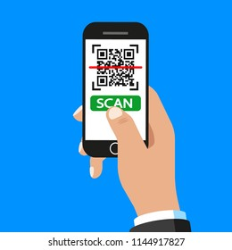 QR code scan. Vector. Isolated.