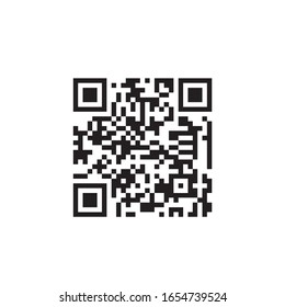 QR code for scanning smartphones on a white background. Qr code scan information icon. Barcodes isolated on white background.