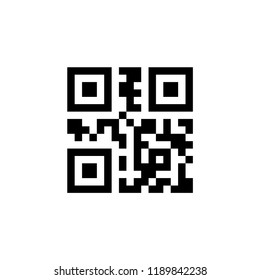 Qr code simple vector icon. Black qr code icon for scanning with mobile app.