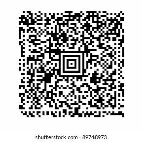 a QR code vector with attention to realistic detail such as uniform black modules and exact alignments. VECTOR.