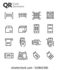 QR Code Vector Icon Set