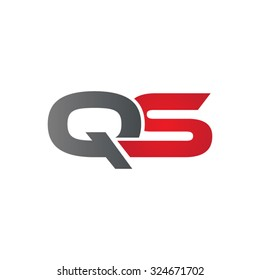 QS company linked letter logo