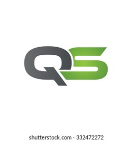 QS company linked letter logo green