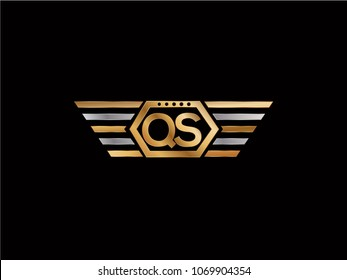 QS initial box shape Logo design