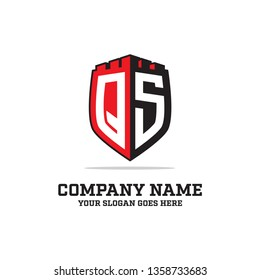 QS initial logo name,QS LOGO  clean and strong brand vector