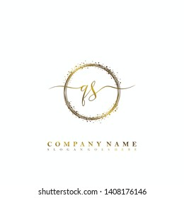 QS Initial luxury handwriting logo vector