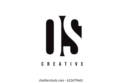 QS Q S White Letter Logo Design with Black Square Vector Illustration Template.