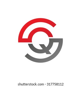 QS SQ initial company circle S logo red