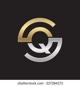 QS or SQ letters, golden silver circle S shape