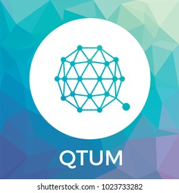 Qtum decentralized blockchain Ethereum contracts on Bitcoin. Qtum cryptocurrency vector logo