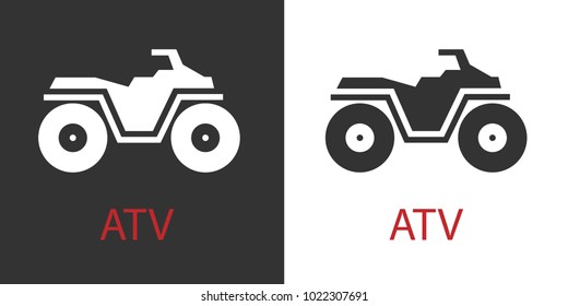 Quad atv icon isolated vector sign symbol