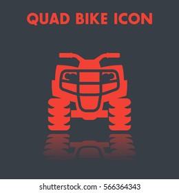 quad bike icon, all terrain vehicle, atv vector pictogram