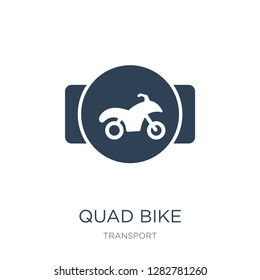 quad bike icon vector on white background, quad bike trendy filled icons from Transport collection, quad bike vector illustration