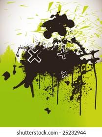 Quad Bike Poster Vector Illustration
