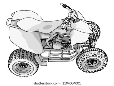 Quad Bike Vector Stock Vector Royalty Free 1194084001