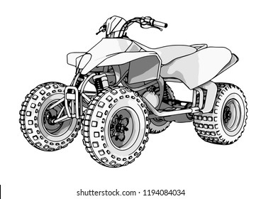 Similar Images Stock Photos Vectors Of Quad Driver Making A Stunt 554028964 Shutterstock