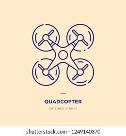 Quad copter Line Icon