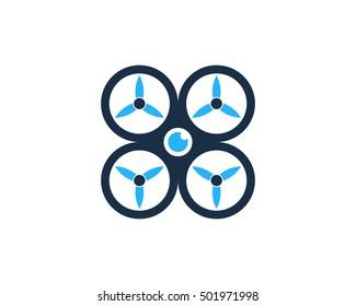 Quad Copter Logo Design Template