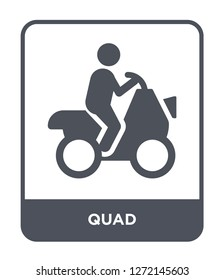 quad icon vector on white background, quad trendy filled icons from Free time collection