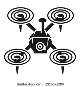 Quadcopter icon. Simple illustration of quadcopter vector icon for web design isolated on white background