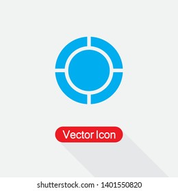 Quadrant Circle Diagram Icon Vector Illustration Eps10