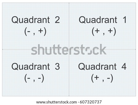quadrant graph paper stock vector royalty free 607320737
