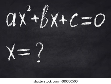 Quadratic equation on chalk Board