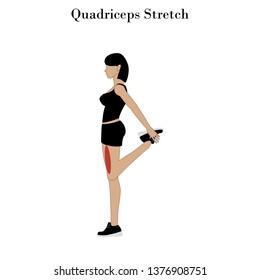 Quadriceps stretch exercise