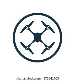 quadrocopter drone Icon Vector