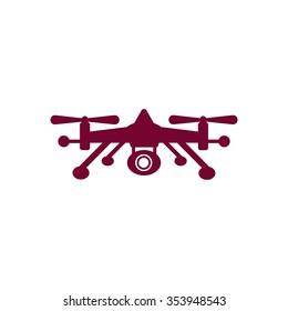 Quadrocopter   icon,  isolated. Flat  design.
