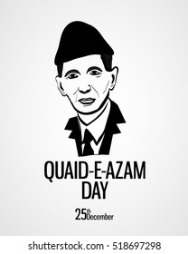Quaid-e-azam Day Vector (founder of pakistan birthday celebration day)