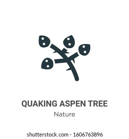 Quaking aspen tree glyph icon vector on white background. Flat vector quaking aspen tree icon symbol sign from modern nature collection for mobile concept and web apps design.