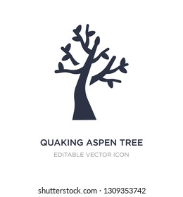 quaking aspen tree icon on white background. Simple element illustration from Nature concept. quaking aspen tree icon symbol design.