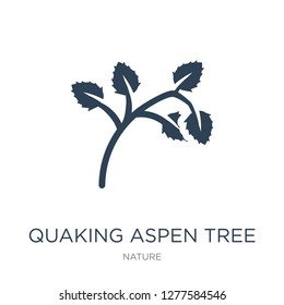 quaking aspen tree icon vector on white background, quaking aspen tree trendy filled icons from Nature collection, quaking aspen tree vector illustration
