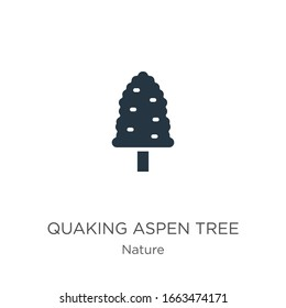 Quaking aspen tree icon vector. Trendy flat quaking aspen tree icon from nature collection isolated on white background. Vector illustration can be used for web and mobile graphic design, logo, eps10