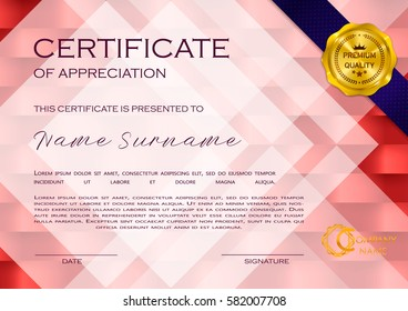 Certificate of appreciation images stock photos vectors qualification certificate of appreciation geometrical design elegant luxury and modern pattern best quality yadclub Image collections
