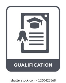qualification icon vector on white background., qualification simple element illustration