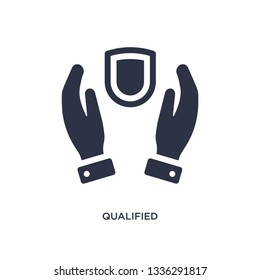 qualified protection isolated icon. Simple element illustration from law and justice concept. qualified protection editable logo symbol design on white background. Can be use for web and mobile.