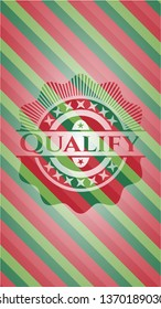 Qualify christmas style badge..