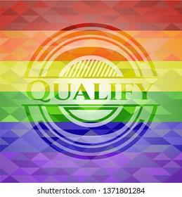 Qualify lgbt colors emblem