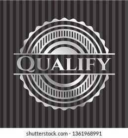 Qualify silver shiny badge
