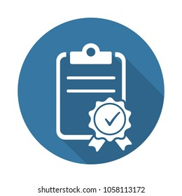 Quality assurance. Document. Icon.