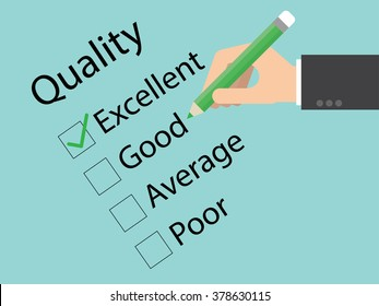 Quality audit close up. Flat design for business financial marketing banking advertisement office people life property stock fund in minimal concept cartoon illustration.