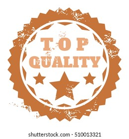 Quality badge - top quality cerfificate sticker vector illustration.